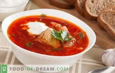 Borschtsch mit Schweinefleisch - das ist für jede Gastgeberin etwas Besonderes! Rezepte reiche, dicke und nahrhafte Suppe mit Schweinefleisch
