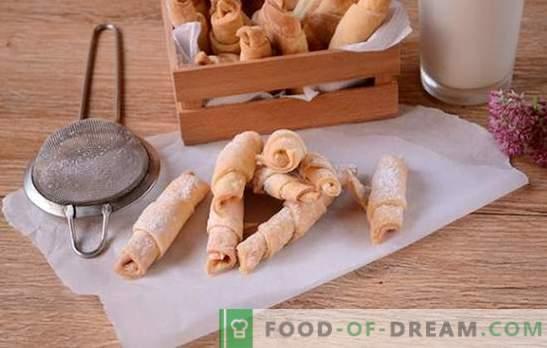 Bagels op zure room: een stapsgewijs foto-recept. Bakken van geurige bagels op zure room is best lang, maar het is het waard!