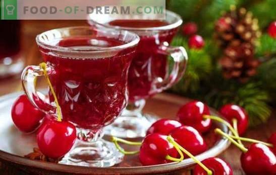 Homemade Cherry Wine - technologie in detail. Zoete kersewijn thuis met frambozen, kersen, krenten