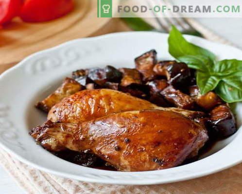 Auberginenhuhn - die besten Rezepte. Wie man Auberginenhuhn richtig und köstlich kocht.