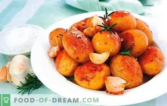 Junge Kartoffeln in einem langsamen Kocher - ein schmackhaftes Gericht des Herbstes. Rezept für junge Kartoffeln in einem langsamen Kocher: gebacken, geröstet, gedünstet
