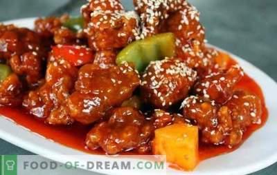 Koreanisches Schweinefleisch - bewährte Rezepte für diejenigen, die scharfes Essen mögen. Jede Beilage passt gut zu koreanischem Schweinefleisch