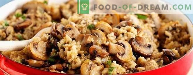 Vegetarischer Pilaw mit Pilzen - ein Rezept für mageres Gemüsepilau