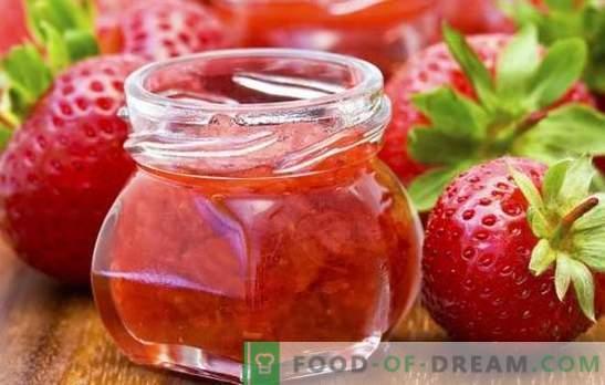 Vorbereitungen für den Winter der Erdbeeren - von der Marmelade bis zum Kompott. Die besten und lebhaftesten Rezepte für den Winter der Erdbeeren