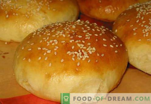 Hamburger Brötchen sind die besten Rezepte. Wie man richtig und lecker Hamburger Brötchen kocht