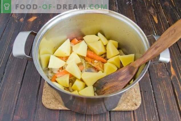Pilzsuppe mit Bohnen und Kartoffeln