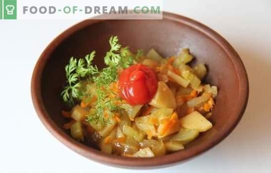 Kartoffeln mit Zucchini im Slow Cooker - schnell und lecker. Rezepte für das Kochen von Kartoffeln mit Zucchini in einem langsamen Kocher: Vegetarier und Fleisch