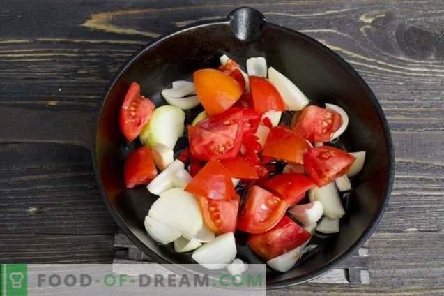 Gemüsepaste mit Pfeffer und Auberginen