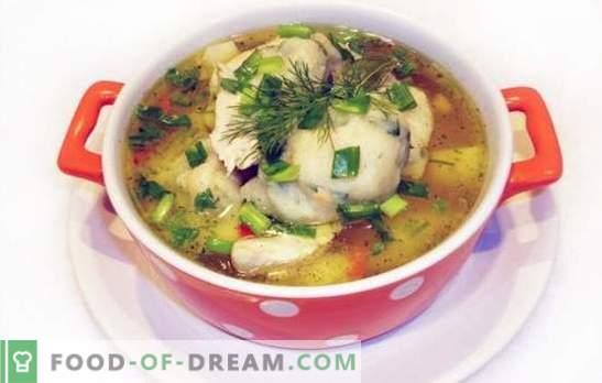 Hühnersuppe mit Knödel - ein Gericht aus Kindertagen! Autorenrezepte zum Kochen von Hühnersuppen mit Grießknödel oder Mehl