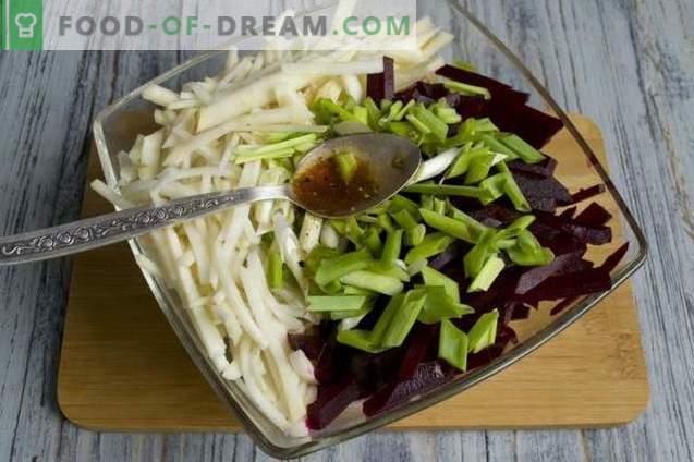 Salat mit schwarzem Rettich