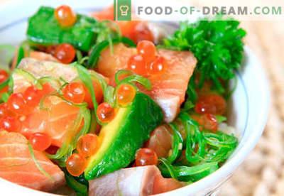 Salat mit Lachs und Kaviar sind die richtigen Rezepte. Schnell und lecker Kochsalat mit Lachs und Kaviar.