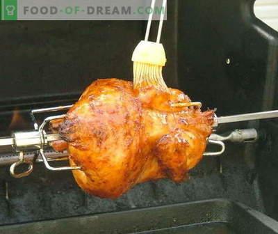 Hähnchen spucken - die besten Rezepte. Wie man richtig und lecker Hühnchen am Spieß kocht.
