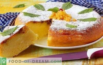 Pastete mit Hüttenkäse in einem langsamen Kocher - Backen aus einem Wundertopf. Rezepte von Hüttenkäsekuchen in einem Multikocher aus verschiedenen Teigen