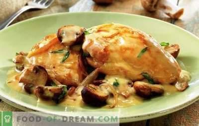 Hühnchen in saurer Sahne in einem langsamen Kocher: mehr vorbereiten! Einfache Rezepte für das Kochen von Hühnchen in Sauerrahm in einem Slow Cooker für jeden Tag