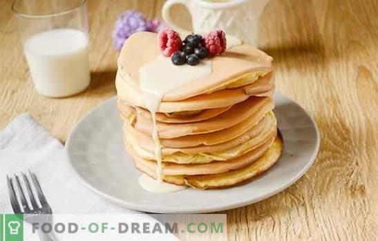 Palatschinken auf Milch: amerikanische Version der üblichen Krapfen! Schritt für Schritt Rezept des Autors mit Pfannkuchen auf Milch - einfach lecker