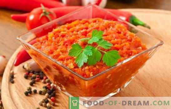 Delicious adjika - ein tolles Multi-Dressing! Verschiedene Rezepte für köstlichen Adjika-Gourmet