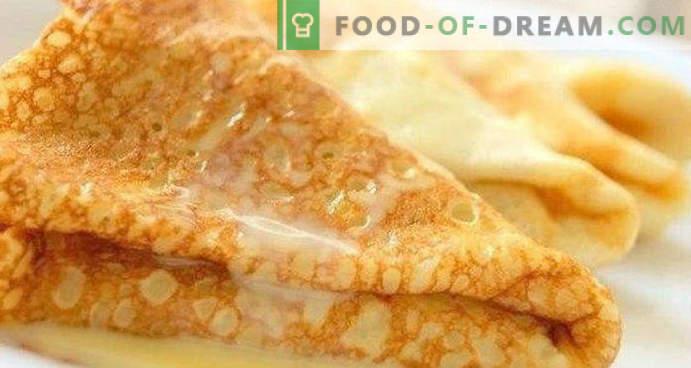 teig für pfannkuchen mit milch, hefe, klassisch, saure trockenmilch