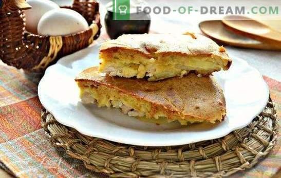 Chicken Fill Pie - saftiges, duftiges und zartes Gebäck. Die besten Rezepte für gelierte Torte mit Hühnchen