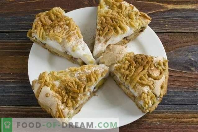 Sandy Apple Pie with Meringue