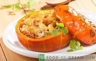 Kürbiseintopf mit Gemüse - gebacken, gedünstet und in einem langsamen Kocher. Rezepte für Gemüseeintopf mit Kürbis im Tagesmenü