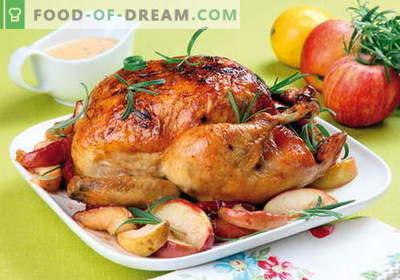 Huhn mit Äpfeln - die besten Rezepte. Wie richtig und lecker Hühnchen mit Äpfeln.
