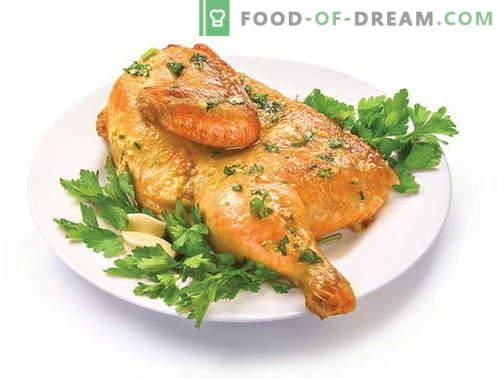 Hühnertabak - die besten Rezepte. Wie man richtig und lecker Tabak Hähnchen kocht.