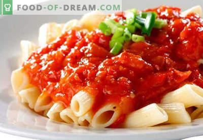 Sauce für Nudeln, Reis, Kartoffelpüree, Fleischbällchen - die besten Rezepte. Fleisch, Tomaten, Pilze, Hühnersoße richtig kochen.