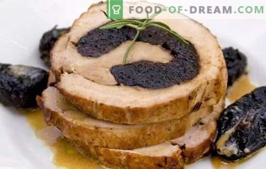 Brötchen mit Pflaumen machen den Urlaub lebendiger und das Menü - nützlich! Die besten Rezepte für Brötchen mit Trockenpflaumen: Hühnchen und Fleisch