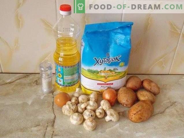 Kartoffel mit Pilzen verrückt