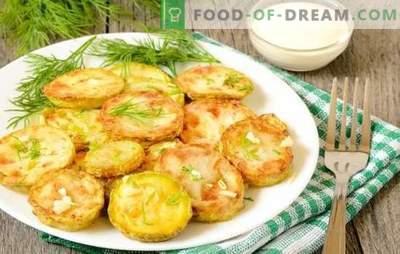 Snacks von Zucchini mit Knoblauch - hell und appetitlich. Zucchini-Vorspeisen mit Knoblauch: Brötchen, Kuchen, Kaviar, Salate