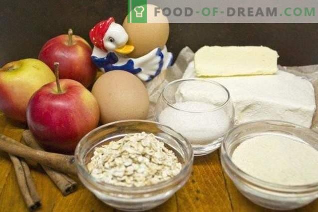 Hüttenkäse-Auflauf mit Äpfeln und Herkules