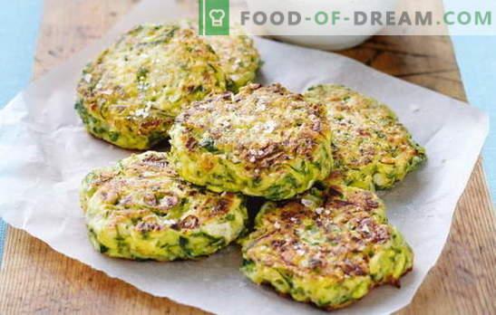 Zucchini-Koteletts - Leichtigkeit und Geschmack von Sommergemüse. Verschiedene Rezepte für Zucchini-Schnitzel: mit Haferflocken, Hähnchen, Fisch, Fleisch