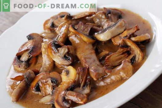 Fleisch mit Pilzen - die besten Rezepte. Wie man Fleisch mit Pilzen richtig und lecker kocht.