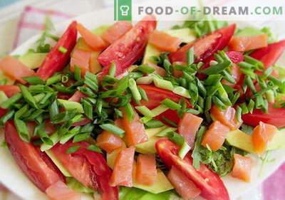 Salat mit Lachs und Tomaten - die richtigen Rezepte. Schnell und lecker kochen Salat mit Lachs und Tomaten.