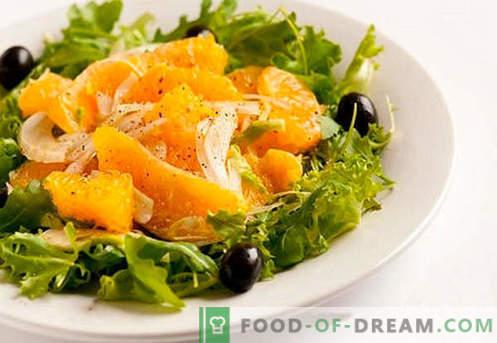 Salat mit Orangen - bewährte Rezepte. Wie man einen Salat mit Orangen kocht.