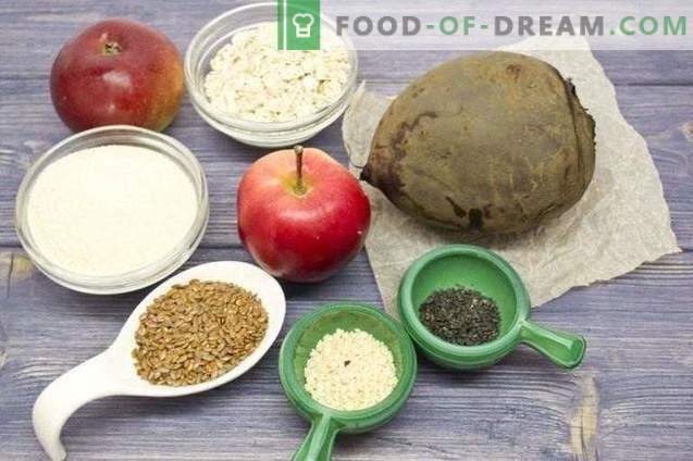 Rübenkoteletts mit Äpfeln und Leinsamen