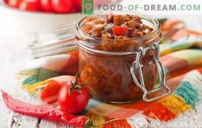 Rezepte der besten Auberginen- und Tomatensalate für den Winter. So behalten Sie alle Vorteile in Auberginen- und Tomatensalaten