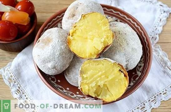 Kartoffeln im Ofen wie ein Lagerfeuer: ein schrittweises Fotorezept. Wenn Sie Kartoffeln vom Feuer wollen, aber das Wetter kein Picknick hat - gibt es eine Lösung!