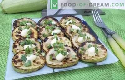 Gebratene Zucchini: Rezepte für schnelle und leckere Gerichte. Rezepte schnell und lecker in Teig gebratene Zucchini, Sauerrahm, Panade
