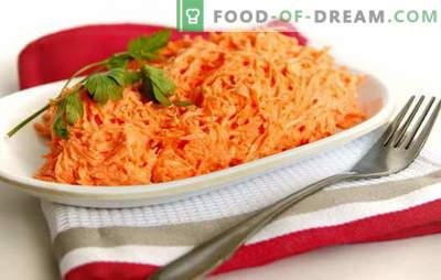 Karottensalat mit Mayonnaise ist einfach und im Stil der koreanischen Küche. Rezepte für schnelle Karottensalate mit Mayonnaise