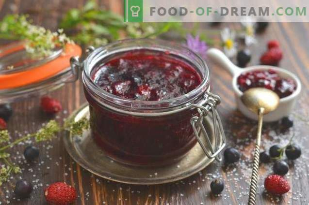 Schwarze Johannisbeere und Erdbeermarmelade
