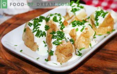 Kartoffeleintopf in Sauerrahm ist eine zarte und nahrhafte Beilage. Rezepte für gedünstete Kartoffeln in Sauerrahm: in einer Pfanne, im Ofen und im Multikocher