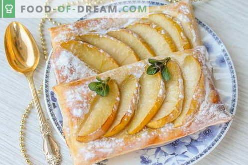 Dessert - Puffs mit Äpfeln. Günstig und sehr lecker!
