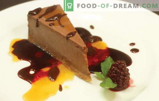 Schokoladenkäsekuchen - ein Dessert mit überirdischem Geschmack und Aroma! Die besten Rezepte für Schokoladenkäsekuchen beim Backen und ohne Backen