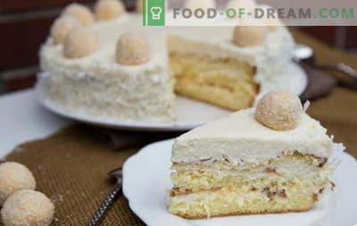 Erstaunliche Raffaello-Torte: Rezepte zu Hause. Alle Geheimnisse und Feinheiten der Raffaello-Torte zu Hause zubereiten