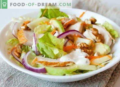 Geräucherter Hühnersalat - die besten Rezepte. Wie man richtig und lecker gekochten Salat mit geräuchertem Hühnerfleisch macht.