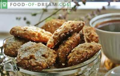 Fastenkekse: einfaches Backen. Rezepte für magere Kekse: Haferflocken, Zitrone, Karotten, Ingwer, Kaffee, Honig mit Mohn