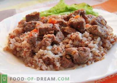Buchweizen mit Fleisch - die besten Rezepte. Wie man richtig und lecker gekochter Buchweizen mit Fleisch kocht.