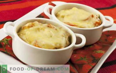 Kartoffeln mit Käse - ein Zauberstab. Kartoffelrezepte mit Käse: Pilze, Gemüse, Fleisch