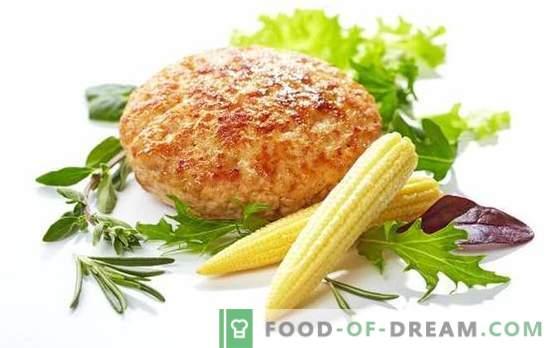 Truthahnkoteletts - Rezepte für jeden Tag. Geheimnisse des Kochens von gedünsteten Putenfleischbällchen in einer Pfanne und im Ofen